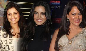 parineeti chopra, sameera reddy and sunney leone