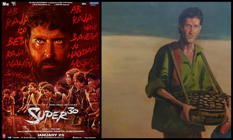 hrithik super 30 look make it to wall of fame