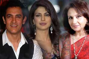 Aamir khan, Priyanka chopra and Sharmila tagore