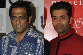 Movie director anurag basu and karan johar