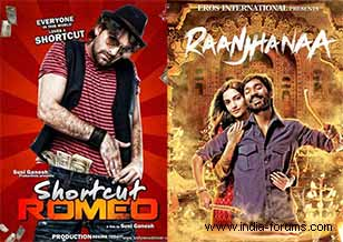 raanjhanaa and shortcut romio