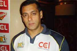 Salman khan in Celebrity Cricket League