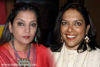 shabana azmi and mira nair
