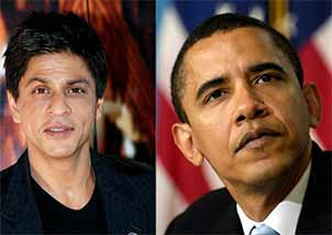 Barack Obama and Shahrukh Khan
