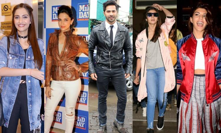 celebrities wearing trending jackets