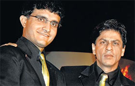 sourav ganguly and shahrukh khan