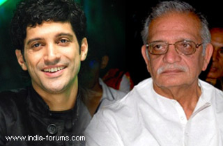 farhan akhtar and gulzar