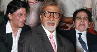 dilip kumar, amitabh bachchan (Big B) and Shahrukh Khan