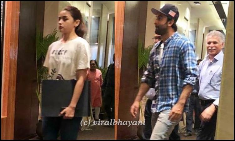 alia-ranbir snapped in mumbai