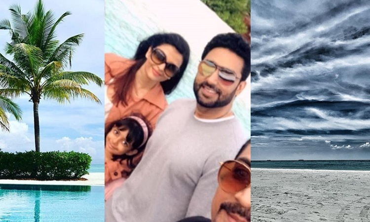 aishwarya, abhishek and aaradhya holiday at maldives