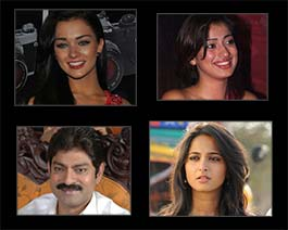 jagapati babu, lakshmi rai, anushka shetty and amy jackson