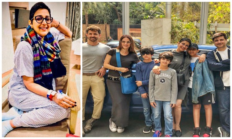 sonali spends a normal day with family and friends