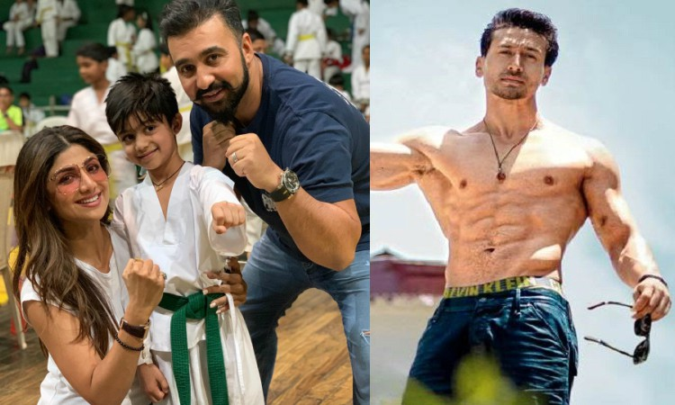 shilpa son dedicates his gold medal to tiger