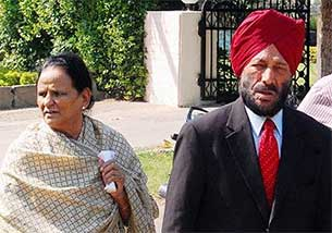 Milkha Singh and his wife