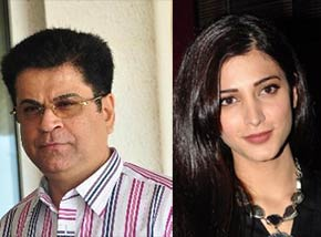 Film producer Kumar Taurani and shruti haasan