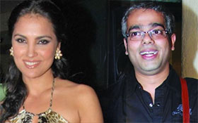 director Shashant Shah and lara dutta
