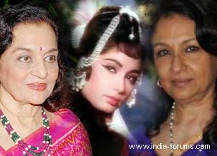 asha parekh, sadhna and sharmila tagore