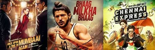 once upon ay time in mumbaai dobaara, bhaag milkha bhaag and chenniai express