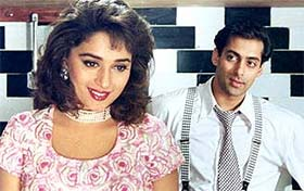 madhuri dixit and salman khan in hum aapke hain kaun movie