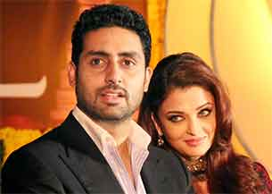 Abhishek and Aishwarya