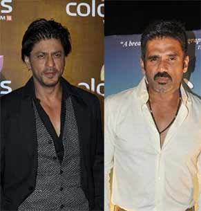 suniel shetty and shahrukh khan