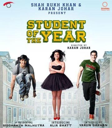 shah rukh khan and karan johar present student of the year