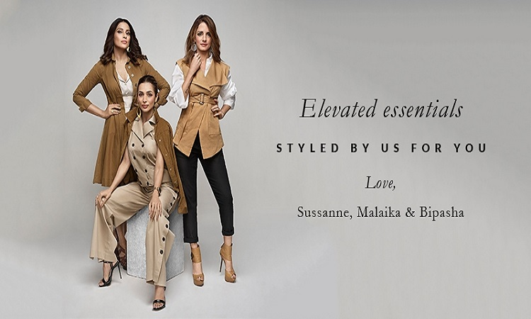 sussane, malika and bipasha lauch a clothing line