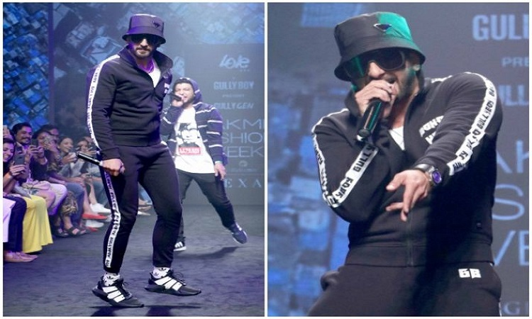 ranveer raps on the ramp of lakme fashion show