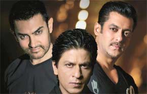 aamir khan, salman khan, and shahrukh khan
