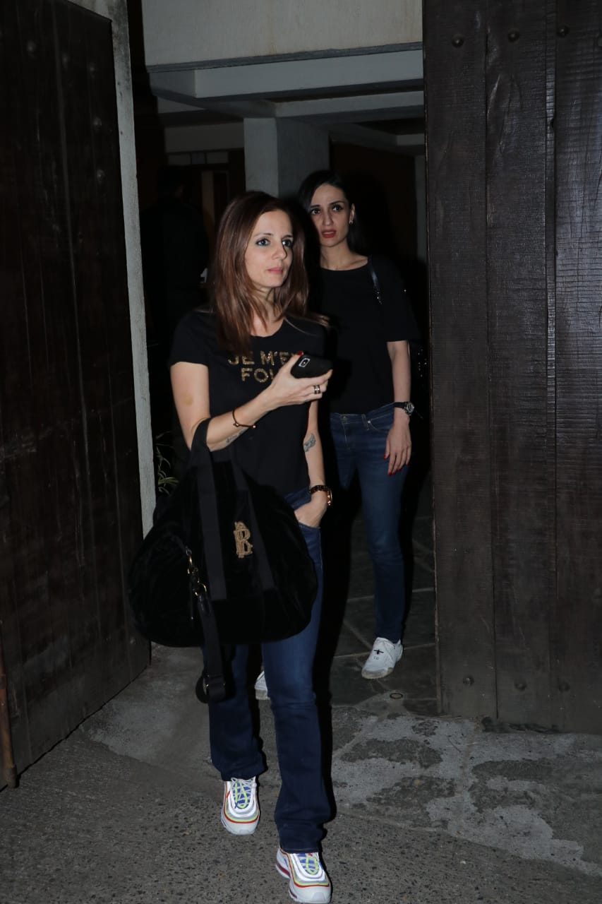 susanne khan spotted at sonali bendre home