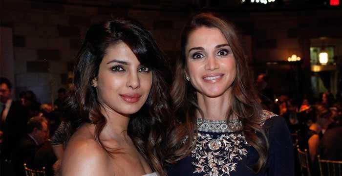 Priyanka honoured to meet Queen Rania of Jordan
