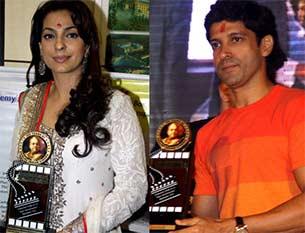 farhan akhtar and juhi chawla