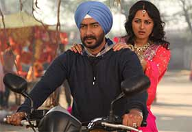 ajay devgn and sonakshi sinha in son of sardar movie