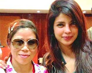 mary kom with priyanka