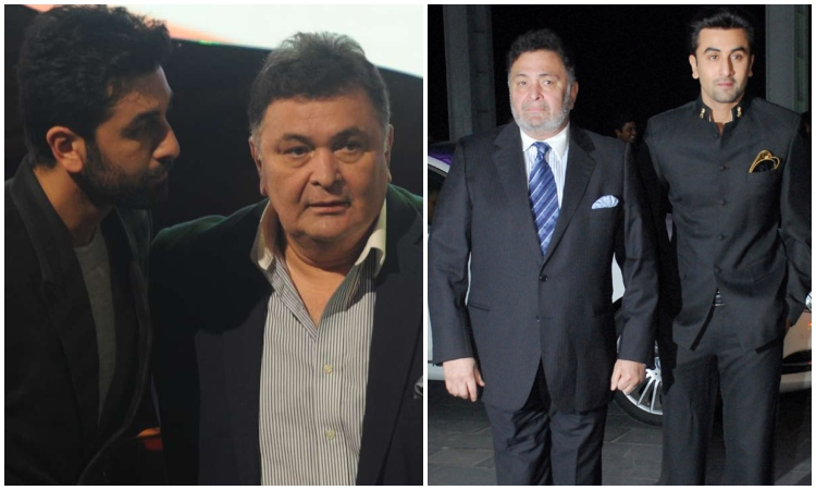 rishi kapoor and son ranbir kapoor
