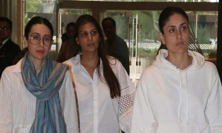 kareena and karisma at prayer meet