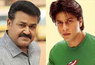 Mohanlal and Shahrukh Khan
