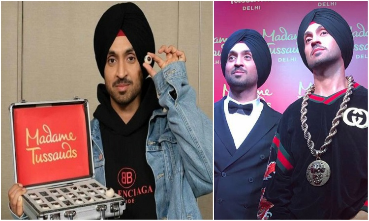 diljit unveals his wax statue