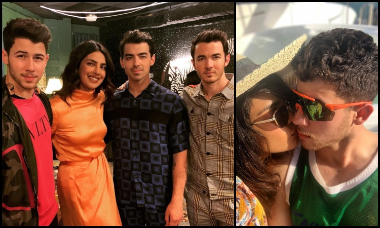 priyanka chopra with jonas brothers...