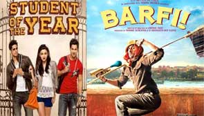 Student of The year and Barfi