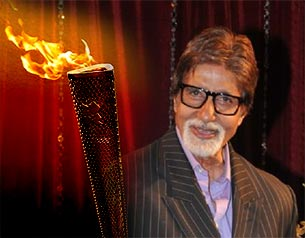 amitabh bachchan carrey Olympic torch