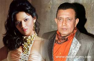 shikha takhur and mithun chakraborty