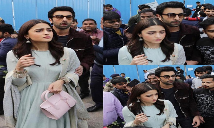 ranbir alia mobbed by crowd