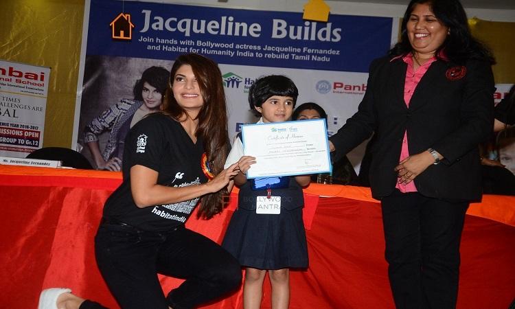 jacqueline fernandez builds homes for the flood affected