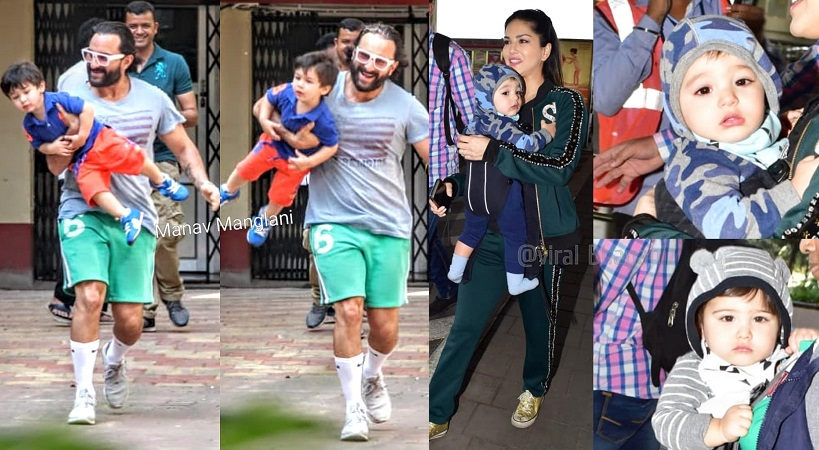 taimur sunny leone twins spotted