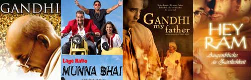 gandhi, lage raho munna bhai and gandhi my father movie