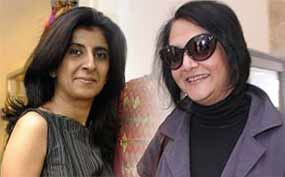 designer Kiran Uttam Ghosh and Poonam Bhagat