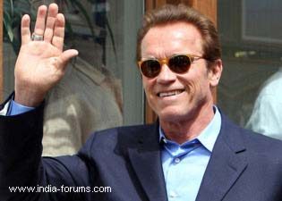 Hollywood action star and former governor of California arnold schwarzenegger in India