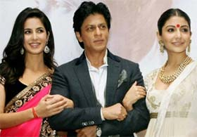 Shahrukh khan, katrina kaif and anushka sharma