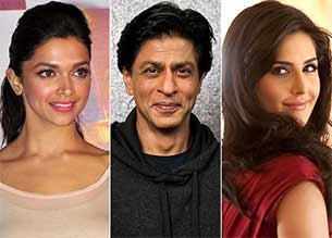 shah rukh khan and deepika padukone and katrina kaif